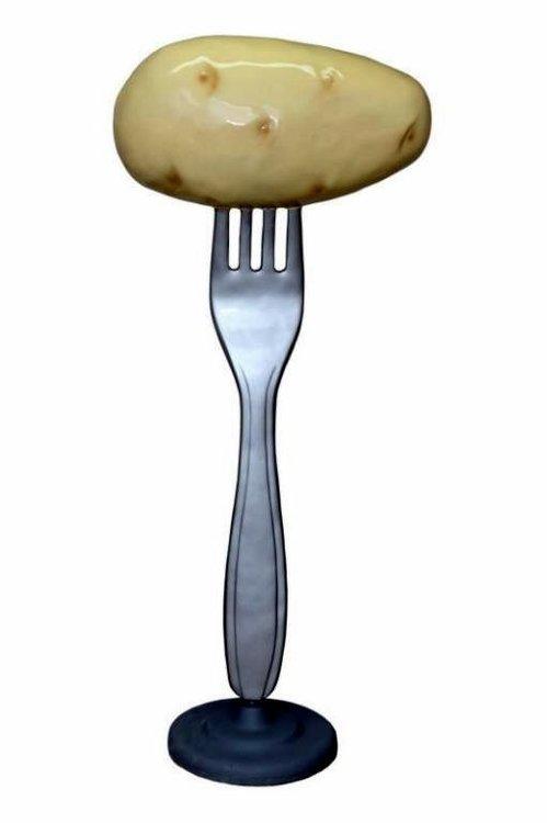 Vork met aardappel polyester reclame beeld 225cm€399
