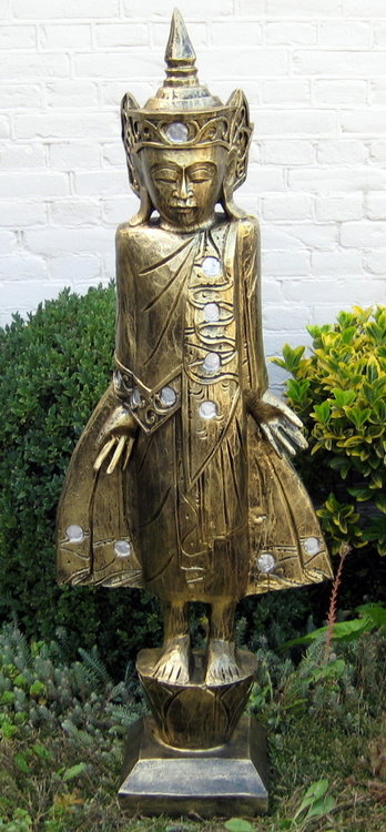 Beeld Polyester Gebronsd 104cm