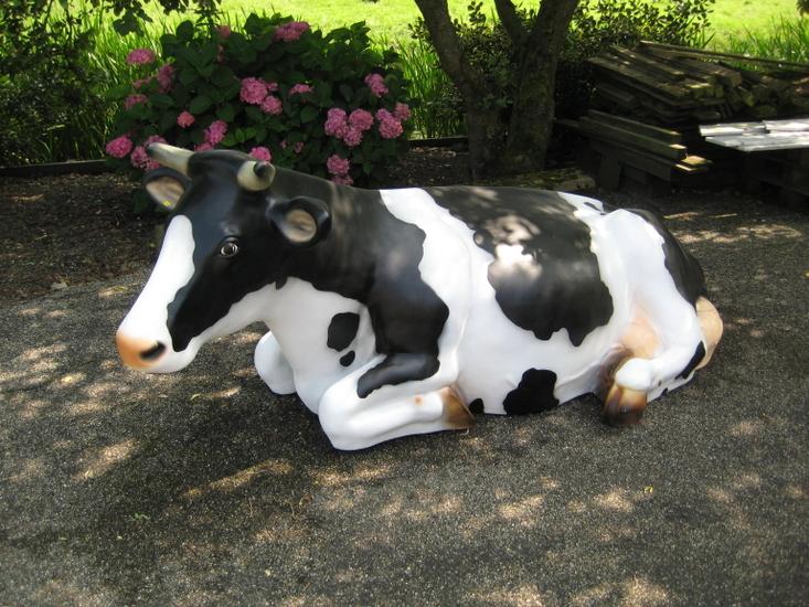 Koe liggend - zwartbont - 240cm