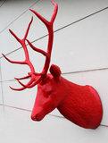 hertenkop groot edelhert polyester