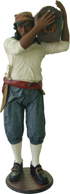 Piraat met Schatkist 195cm