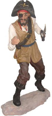 Piraat Beeld OneEye Zwaardvechter 195cm