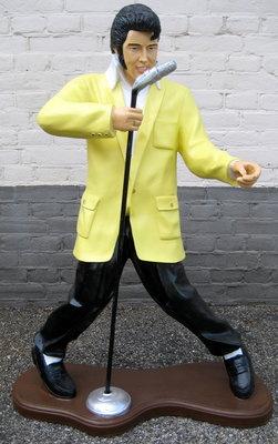 Elvis met microfoon 100cm