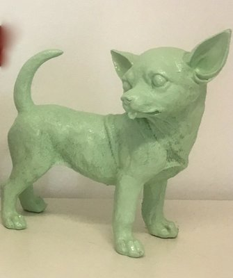 Chihuahua beeld polyester pastel groen