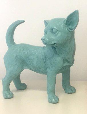 Chihuahua beeld polyester pastel blauw