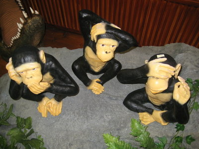 aapjes 3 stuks Horen-Zien en Zwijgen set drie delig