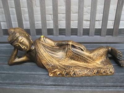 Boeddha Beeld Polyester Gebronsd 120 cm