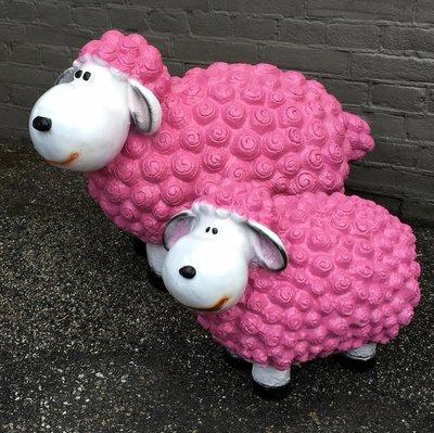 Schaap Wollie Fun Sheep Fuchsia roze
