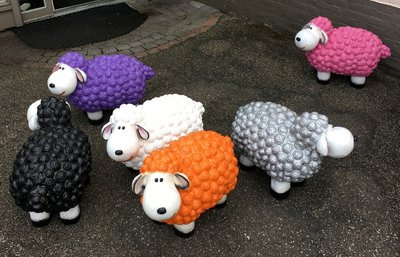 Schaap Wollie Fun Sheep oranje