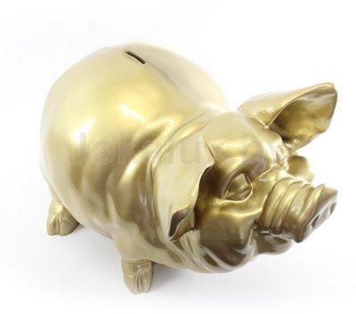 Gouden spaarvarken - 50cm