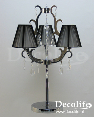 Lamp Firenze Staande Lamp Chrome/Kristal