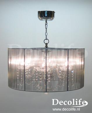 Lamp Organza Hang Lamp Crystal Halogeen