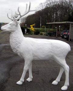 Hert gewei polyester beeld decolife d for Wit gewei decoratie