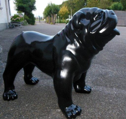 Engelse bulldog - zwart glad polijst