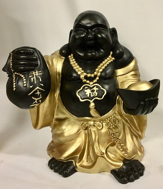 Boeddha Beeld Polyester brons-goud 77cm