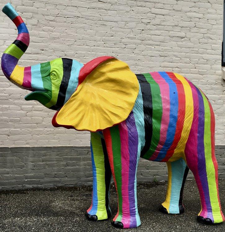 olifant polyester kunst beeld 165cm Bohemian