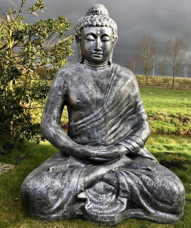 boeddha beeld mega groot zittend polyester beeld