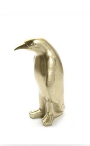 Pinguin -pinquin beeld -goud125 cm