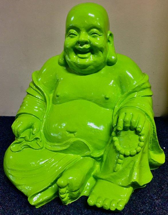 boeddha beeld  lemongreen 43cm
