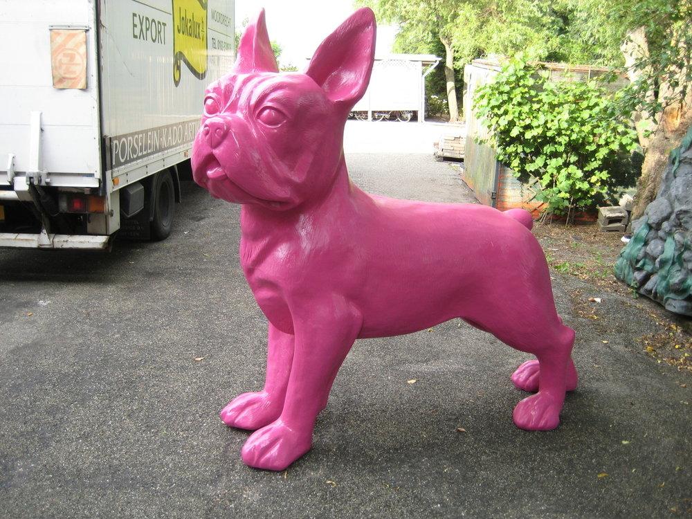 franse bulldog XXL fuchsia