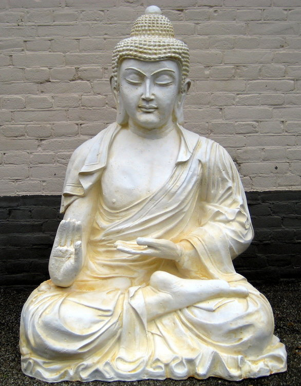Boeddha  XXL 125cm Creme