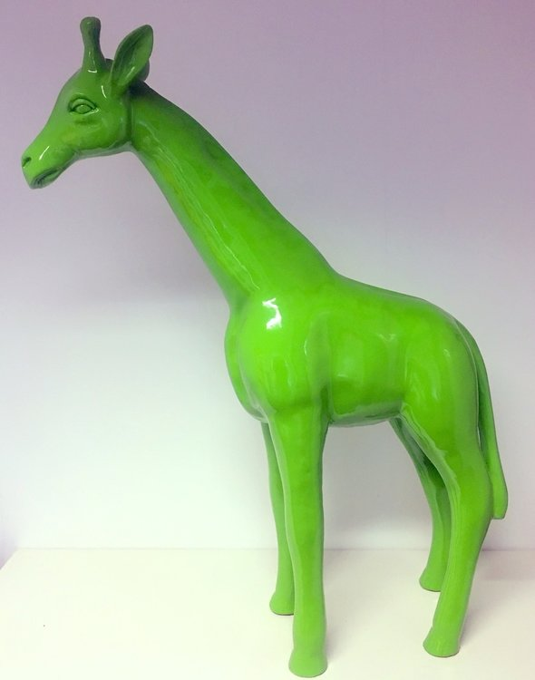 Giraffe 110cm -kunst beeld- dikkertje dap - groen