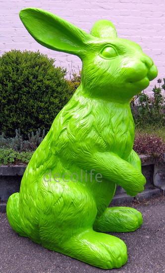 haas konijn XXL polyester kunst beeld groen