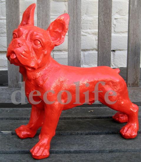 Franse Bulldog polyester beeld rood