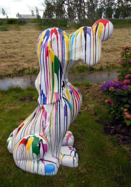 Hond cartoon Pluto kunst dripping 160cm