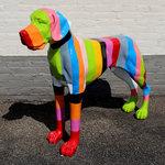 Rainbow Hippies Deense Dog Harlekino