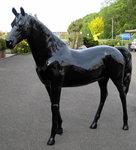 paard polyester zwart