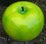 Appel polyester groen hoogglans met  50cm