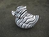 badeend xxl polyester zebra