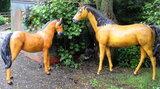 paard beeld met pony polyestre kunst