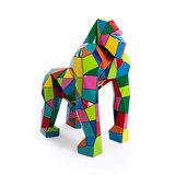 kunstbeeld van artresin gorilla in Origami style bohemian