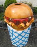Hamburger Patat friet afvalbak