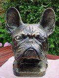 franse bulldog - decoratie beeld -gebronsd-