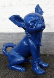 Chihuahua beeld polyester XXL 100cm