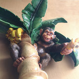 Kinder Douche chimpansee polyester wanddecoratie met fiberglas vezel