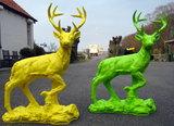 kunst beeld-hert-rots-polyester