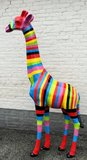 giraffe kunst rainbow