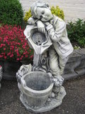 fontein polyester jongen met hond