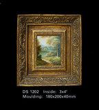 Schilderij incl. lijst - Landschap Waterval 24 x22cm _