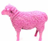 schaap polyester beeld 80 cm fuchsia roze