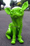 chihuahua kunst beeld grasshopper  polyester XXL