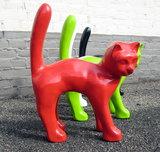 kat hoge rug polyester beeld decolife