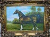 Schilderij Olieverf 120x90cm Paard _