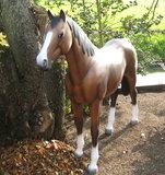 paard bruin mat