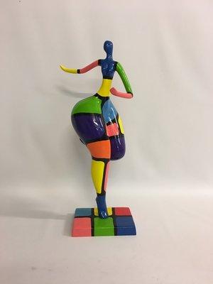 Dikke dame beeld - Swing rubens Colore