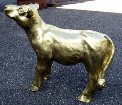 gouden kalf goud polyester 75cm